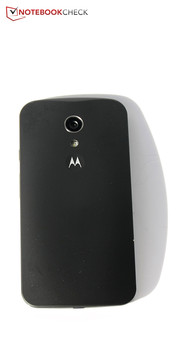 There is still a depressed Motorola logo at the back.