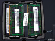 The RAM slots are filled by 2 modules; those users who want 8 GB of RAM will have to swap out the modules