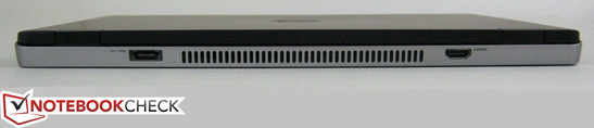 Rear: USB/eSATA port, HDMI-out