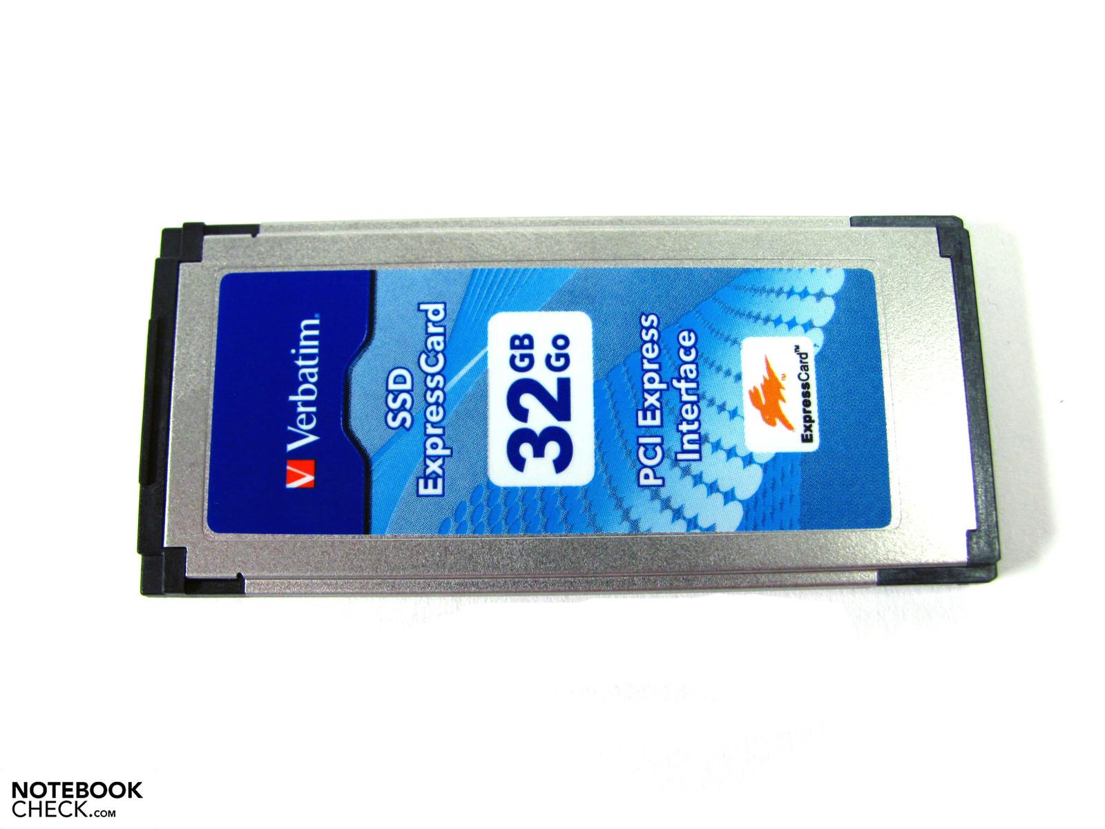 Review Verbatim Ssd Expresscard 32 Gb Notebookcheck Net