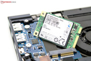 Small and swift: Samsung's mSATA SSD with a capacity of 256 GBs.