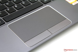 Pleasant touchpad but the button clicks are too loud.