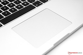 Familiar trackpad with glass surface