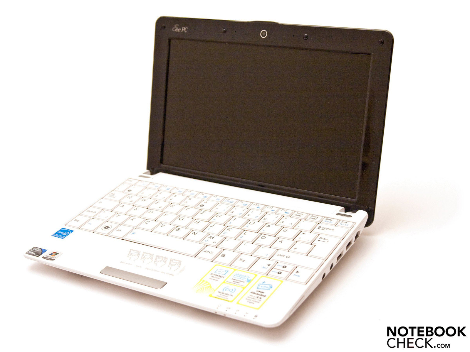Review Asus Eee Pc 1005ha M Win7 Netbook Notebookcheck
