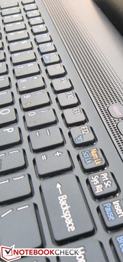 Only the Function keys are reduced in size relative to the QWERTY and arrow keys
