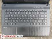 The chiclet-style keyboard is one of the better keyboards we've used