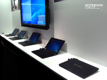Among the Sony Vaio X's pre-samples, we discovered at least 2 different models.