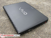 Excluding the honeycomb texture, the notebook shares many features with the Vaio VPC-CA1S1E