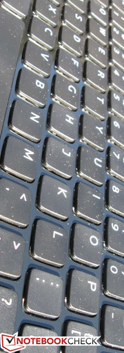 Chiclet-style keyboard performs well, if not a bit on the soft side