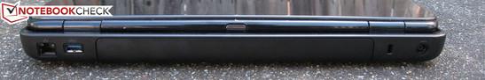 Rear: RJ-45, USB 3.0, Kensington Lock, AC adapter jack