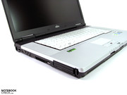 The two tone casing gives the laptop a sleek appearance