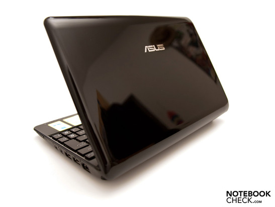 Asus Eee 1005PE's high-gloss display bezel