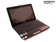 The elegant Asus Eee PC Seashell 1008P from the front...