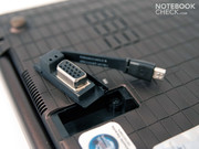 A VGA adapter for the built-in mini display port...