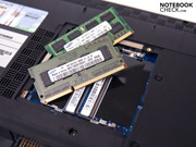 Underneath the first is a 3 GByte DDR3 8500 RAM
