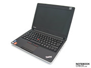 The slim Lenovo ThinkPad Edge 13 (NUE2UGE) from the front,...