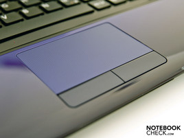 The touchpad is of sufficient size and features a lightly buffed surface.