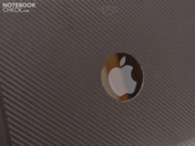 The Apple logo isn't covered