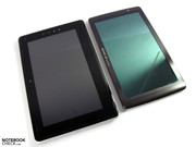 ... and offers slightly slimmer dimensions than Toshiba's Folio 100