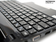 The chiclet keyboard with a key size of 14 x 14 mm and ...