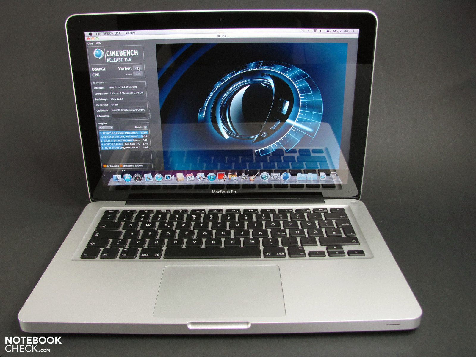 review apple macbook pro 13 early 2011  2 3 ghz dual-core  glare-type screen