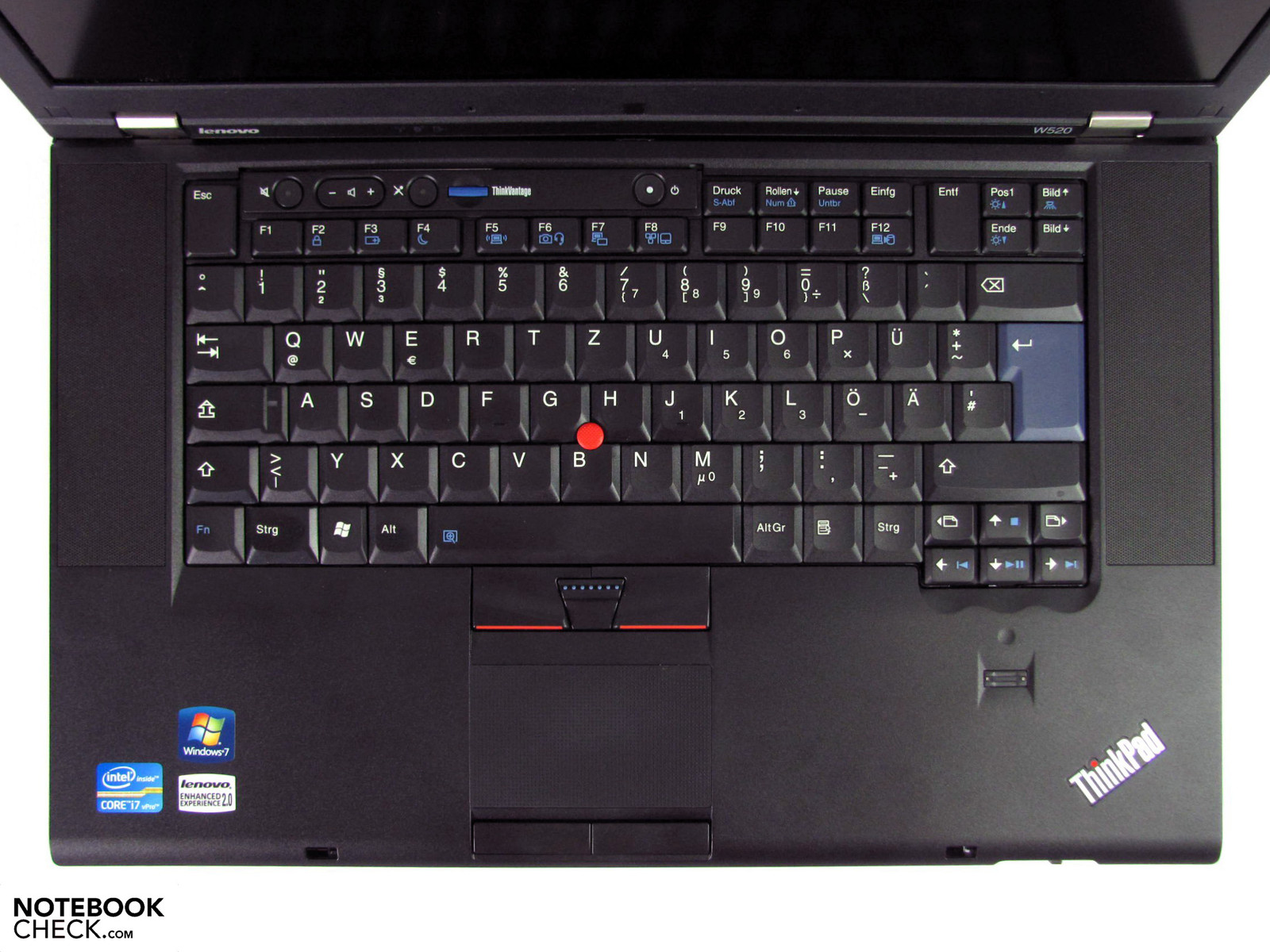 Arrow Pointing Down >> Review Lenovo ThinkPad W520 Notebook - NotebookCheck.net ...