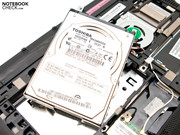 A 250 GB hard disk memory are installed ex-factory.