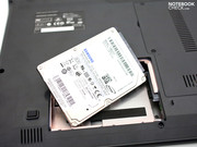 A 500 GB memory from Samsung is installed ex-factory.