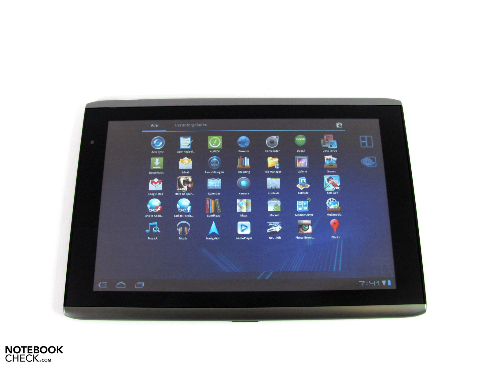 review acer iconia tab a500 tablet mid reviews. Black Bedroom Furniture Sets. Home Design Ideas