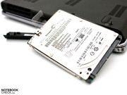 The installed hard disk from Seagate is slim and fast.