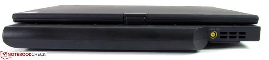 Rear: 63 Wh battery, power socket