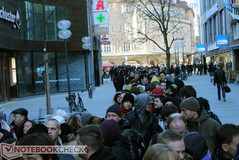 08:30 - The snaking line only got longer throughout the day