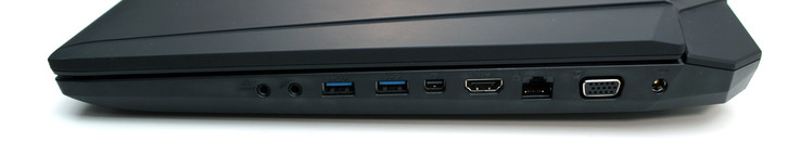 Right side: audio, 2x USB 3.0, Thunderbolt, HDMI, Ethernet, VGA, power