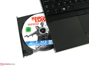 The optical drive can also read and write Blu-ray discs.
