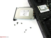 The hard drive shaft accepts drives with a height of 9.5 mm.