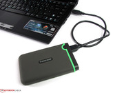 External USB 3.0 devices will not find any additional USB 2.0 port for power on the right side.