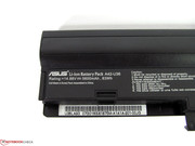 The battery has a large capacity and can provide long run times.