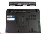 The battery is not integrated into the case as in many Ultrabooks. It can be easily removed.