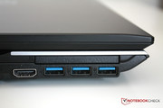 Three USB 3.0 ports are on the left side.