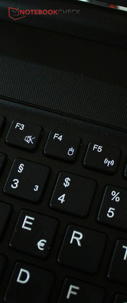 """Fn+F4"" activates or deactivates the touchpad. An automated recognition of a mouse is also possible."