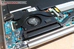 The extremely skinny cooling fan keeps the case at a pleasant temperature and stays very quiet while doing that.