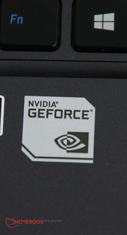 The GeForce graphics card...