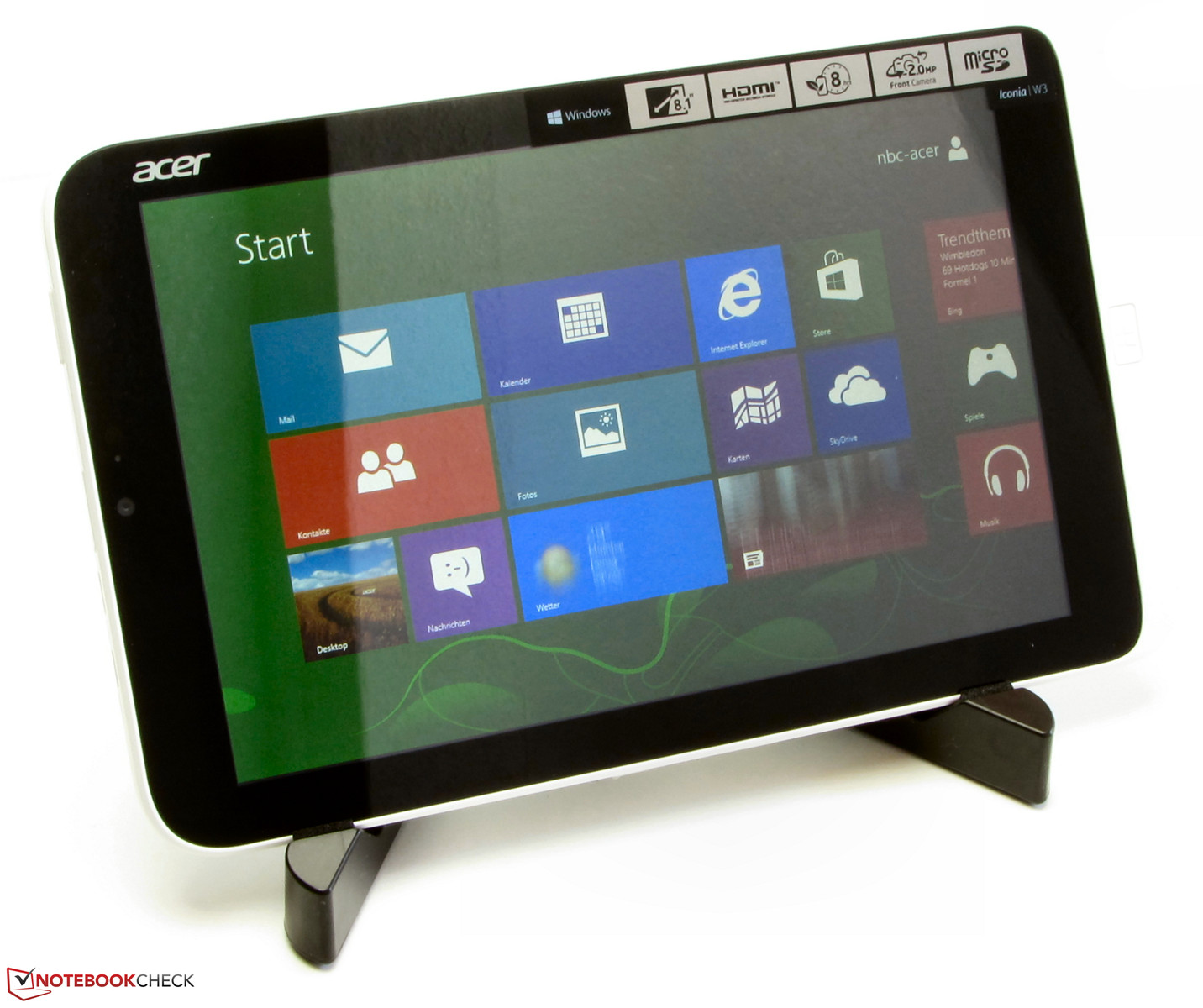 review acer iconia w3
