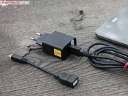 The small power supply only weighs 97 grams, including the USB cord.