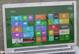 The Ideapad Z710 outdoors