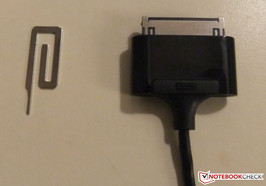 microSD slot key and dock connector