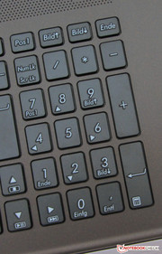 A complete number pad is available.