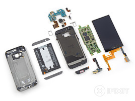 It is once again no pleasure to dismantle the HTC One M8. (Picture: iFixit)