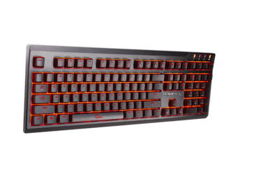 The KM570 keys feature individually lit red backlighting. (Source: G.SKILL)