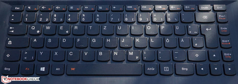 The Ideapad 500s-14ISK a keyboard with comfortable typing experience...